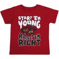 Temple Owls Toddler Start 'Em Young T-Shirt - Red