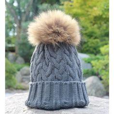 Fur Pom Pom Bobble Hats including Fox and Raccoon