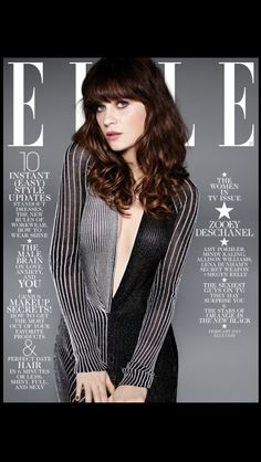 Zooey Descanel ELLE magazine cover from her twitter