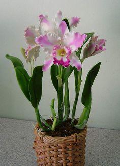 Amazing Clay Orchid by ekaratbeyer1 on Etsy, $120.00
