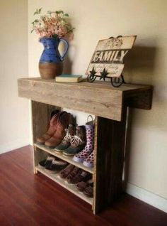 Boot and shoe shelf