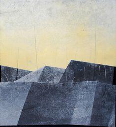 "Marta Galisz ""Dachy 1"" malarstwo / pejzaż / landscape / painting"
