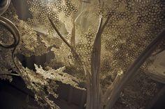Tom Price PP Tree Installation Industry Gallery, Washington DC 2011 Artist Designer Art Design Sculpture Installation Tom Price, Paper Clouds, Art Du Monde, Art Basel Miami, Cherry Tree, Installation Art, Oeuvre D'art, Decoration, Sculpture Art