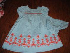 MINI-BABY-BODEN-12-18-BLUE-ORANGE-STITCHED-DRESS