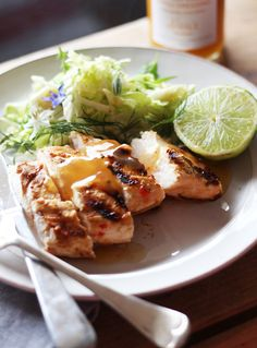 Barbecued Lime and Chilli Chicken with Mango, Lime and Chilli Dressing