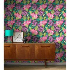 Rasch Paradise Flowers Pattern Tropical Floral Leaf Wallpaper 209129