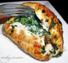 Cooking Creation: Cajun Chicken Stuffed with Pepper Jack Cheese & Spinach