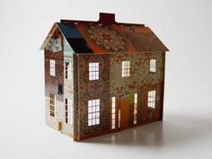 Popup patchwork dollhouse quarter scale by sarabandepress on Etsy