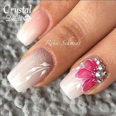 #crystalnails #rekaschmidt #aquarelle #aquarell #wedding #whitenails #white #softwhite #gelpaint
