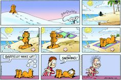 Read today's Garfield comic strip, or search for your favorite! Garfield Quotes, Garfield Cartoon, Garfield And Odie, Garfield Comics, Cartoon Jokes, Cat Cartoons, Dog Comics, Funny Comics, Vintage Humor