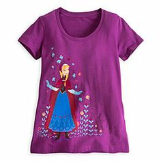 Disney Anna Tee for Women - Frozen | Disney StoreAnna Tee for Women - Frozen - Follow the path from everyday fare to adventure wear in this soft cotton tee featuring folk-costumed Anna from Disney's animated feature Frozen.