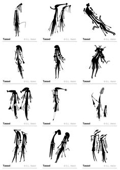 Drawings from Bradshaw rock paintings in the Kimberley