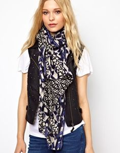 New Look Hand Painted Printed Scarf