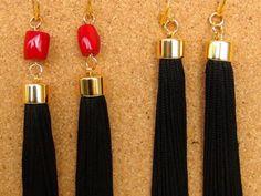 Long Earrings Long coral earrings boho di Frammentidivetro su Etsy