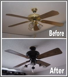 Nadia's DIY Projects: DIY Ceiling Fan Makeover. Diy home decor on a budget home    but you can tell its a different room