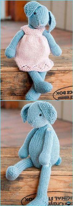 4 Woodland Toys Free Knitting Patterns Animals Knit