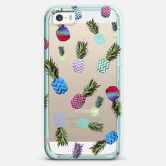 Tiffany Crazy Ananas Crystal Clear Iphone Case Iphone 5s Case By Monika Strigel | Casetify by Casetify - Found on HeartThis.com @HeartThis | See item http://www.heartthis.com/product/309901091370176531/