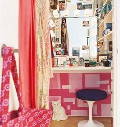 turn closet space into vanity area