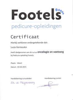 In Nederland een bijscholing gedaan over oncologie en voetzorg