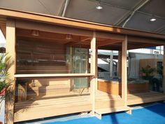 Préfabriquée maison en bois gazebo en plein air Sauna salle de douche à vapeur FS-LT06