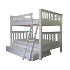 bedz king bunk beds full over full white twin trundle full over