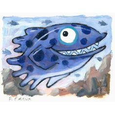 Blue fish by FFrank . Ocean Aquarium, Fish Artwork, Frank Ocean, Artist, Blue, Painting, Fictional Characters, Artists, Painting Art