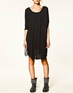 Zara: T-SHIRT WITH CHEESECLOTH BACK