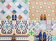 Fotógrafo retrata toda a beleza de Barcelona através do seu chão colorido