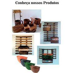 Floreira Madeira Parede Jardim Vertical Cachepo Indiv Quad - R$ 39,90 no MercadoLivre