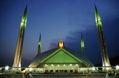 A Panoramic view of Faisal Mosque Islamabad