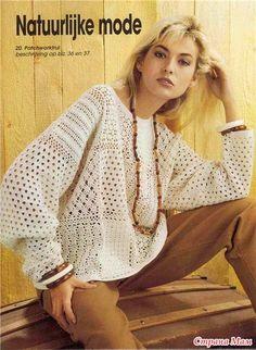 Пуловер крючком | Irish crochet &
