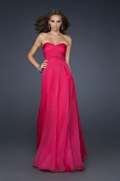 2014 Sweetheart Pleated And Fitted Bodice A Line Full Length Prom Dress
