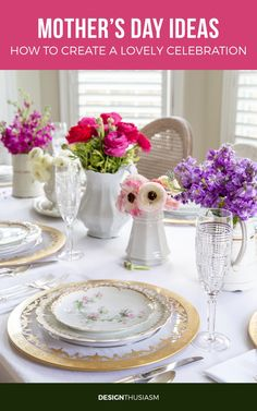 Looking for ways to upgrade your Mother's Day celebration? These Mother's Day ideas will brighten your day and add pleasure to your gathering. French Table Setting, Country Table Settings, Country Interior Design, Vintage Interior Design, French Farmhouse Decor, French Country Decorating, Farmhouse Kitchen Inspiration, Parisian Decor, Table Setting Inspiration
