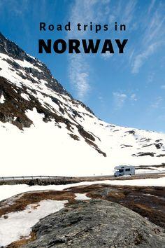 Motorhome/ RV driving through the Norwegian mountains