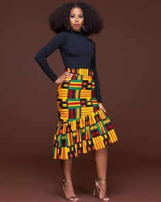 African fashion is available in a wide range of style and design. Whether it is men African fashion or women African fashion, you will notice. African Print Skirt, African Print Dresses, African Fashion Dresses, African Fabric, African Dress, Fashion Outfits, African Prints, Ankara Fashion, Fashion Styles
