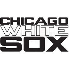 Chicago White Sox Logo Iron on transfers N3234 $2.00-irononstickers.net