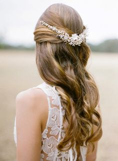 SONNET pearl bridal headpiece bohemian inspired by percyhandmade