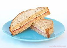 Quick and easy healthy breakfast ideas for kids from Eats Amazing UK - Cream cheese and jam sandwiches