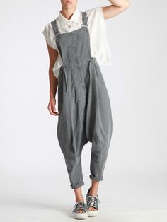 OVERALLS+MADE+OF+RUSTIC+COTTON+WITH+MILITARY+DYE