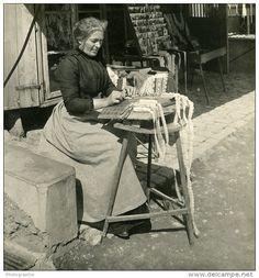 Dentellière Lauterbrunnen (Suisse) 1906