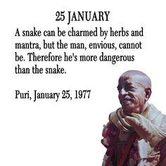 Srila Prabhupada Quote for 25 Jan 2014 Krishna Love, Hare Krishna, Spiritual Love, Spiritual Quotes, January Quotes, Autobiography Of A Yogi, Full Quote, Srila Prabhupada, Vedic Mantras