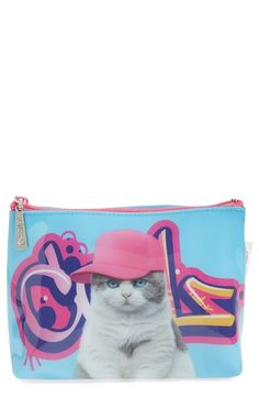Catseye London 'Graffiti Cat' Cosmetics Bag available at #Nordstrom