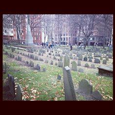 Old Burial Ground - Buried Here - Paul Revere, John Hancock, Samuel Adams & other patriots - Boston, MA