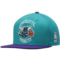 Men's Charlotte Hornets Mitchell & Ness Teal XL Logo Snapback Adjustable Hat