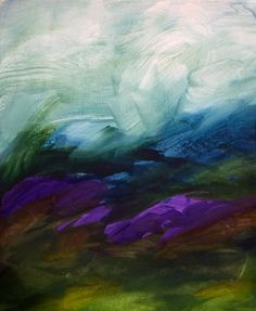 Saatchi Online Artist: Maria Mann; Watercolor, 2010, Painting AT SUMMERS END