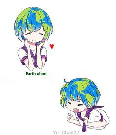 Earth chan  by Yui-Chan27.deviantart.com on @DeviantArt