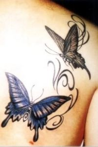 Sexy tattoo idea for girls butterfly hip tattoo by rain for Lake geneva tattoo