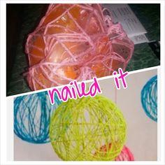 My yarn ball pinterest fail!