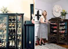 A Glass Front Cabinet For Shoes..wow Great Idea For Purses | Shoes |  Pinterest | Glass Front Cabinets, Glass And Organizations