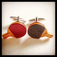 Great gift idea for men! Ping Pong Cufflinks. Great for groomsmen gift! MarkandMetal.com